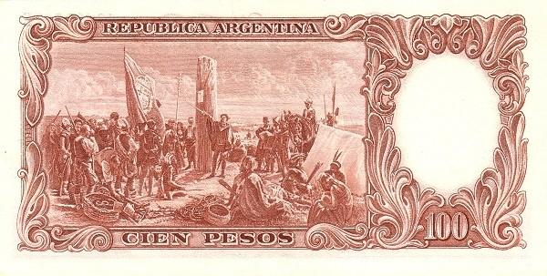 "Argentina 100 Pesos (1954-1968 ""Leyes 12.962 & 13.571 - San Martín"")"