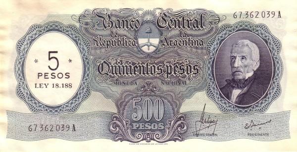 Argentina 5 Pesos (1969)