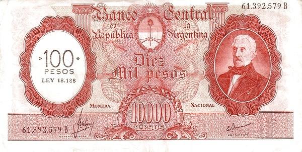 Argentina 100 Pesos (1969)