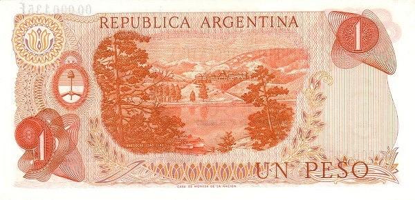 "Argentina 1 Peso (1973-1976 ""Decreto-Ley 18.188/69"" )"