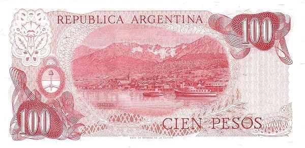 "Argentina 100 Pesos (1973-1976 ""Decreto-Ley 18.188/69"")"