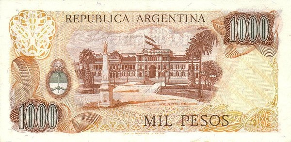 "Argentina 1000 Pesos (1973-1976 ""Decreto-Ley 18.188/69"")"