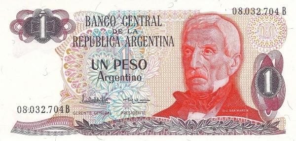 "Argentina 1 Peso Argentino (1983-1985) ""Peso Argentino"")"