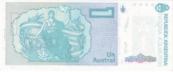"""Argentina 1 Austral (1985-1991 """"Austral"""")"""
