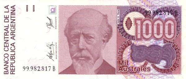 "Argentina 1000 Australes (1985-1991 ""Austral"")"