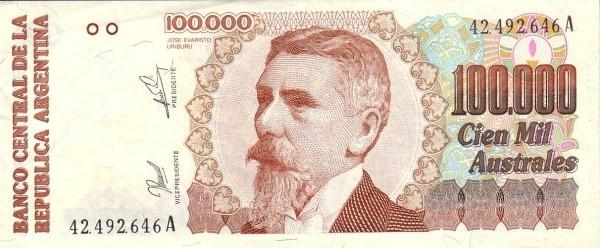 "Argentina 100000 Australes (1989-1991 ""Austral"")"