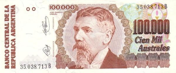 "Argentina 100000 Australes (1989-1991 ""Austral""-2)"
