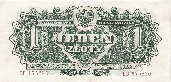 Poland 1 Złoty (1944)