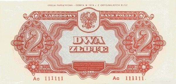 Poland 2 Złote (1944-2)