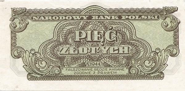 Poland 5 Złotych(1944)
