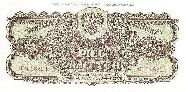 Poland 5 Złotych(1944-2)