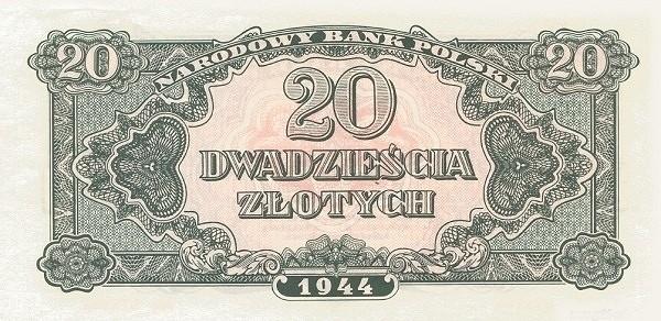 Poland 20 Złotych (1944-2)