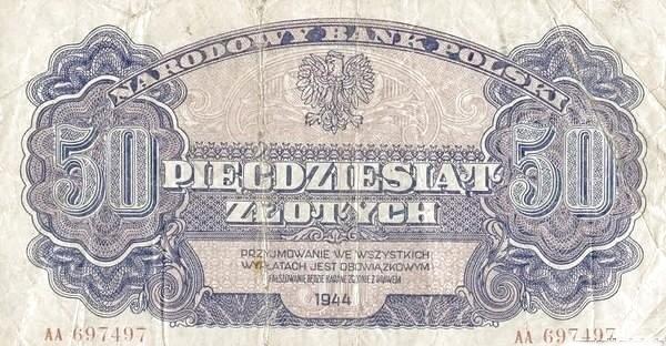 Poland 50 Złotych (1944)