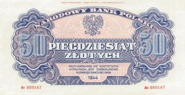 Poland 50 Złotych (1944-2)