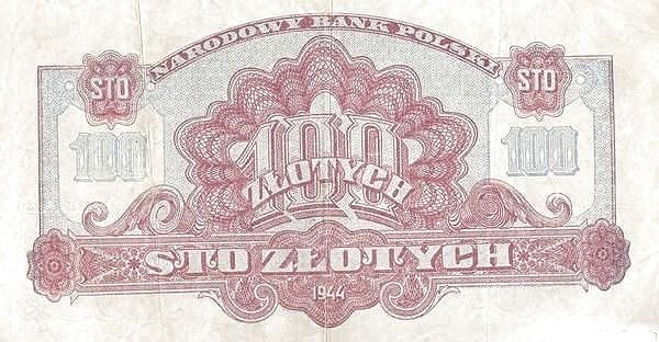Poland 100 Złotych (1944)