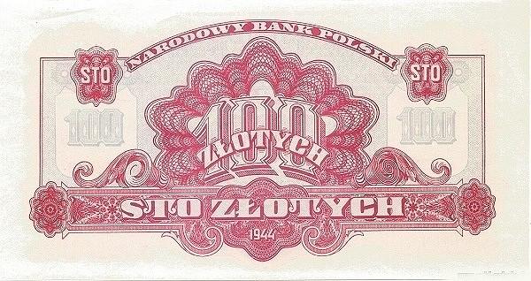 Poland 100 Złotych (1944-2)