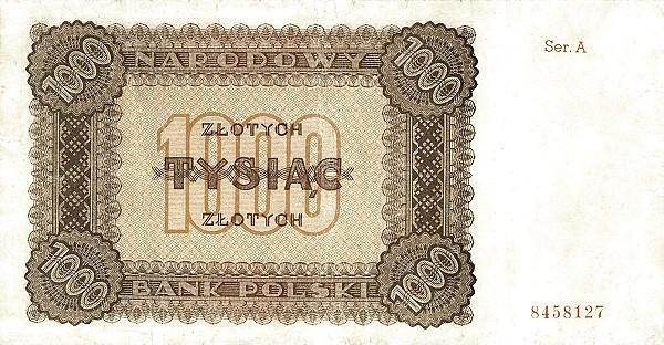 Poland 1000 Złotych (1945)