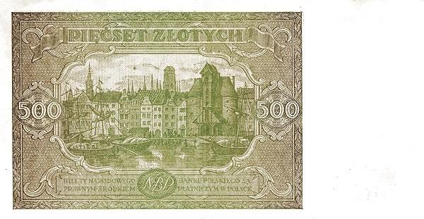 Poland 500 Złotych (1946)