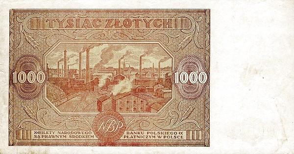 Poland 1000 Złotych (1946)