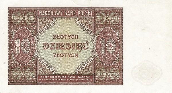 Poland 10 Złotych (1946)