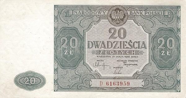 Poland 20 Złotych (1946)
