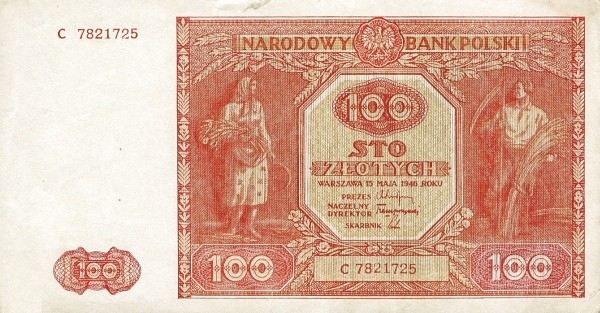 Poland 100 Złotych (1946)
