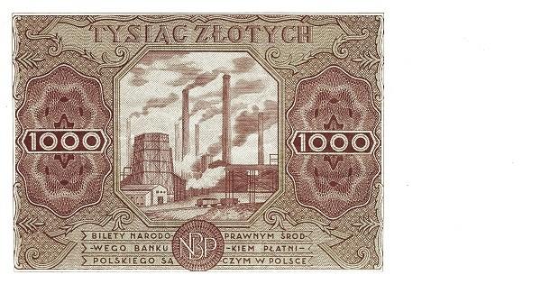 Poland 1000 Złotych (1947)