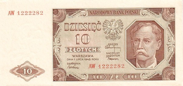 Poland 10 Złotych (1948)
