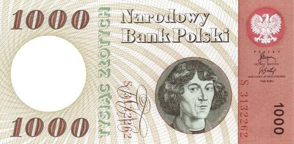 """Poland 1000 Złotych (1965 """"Copernicus"""")"""