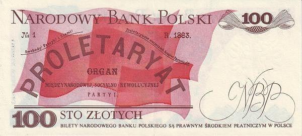 """Poland 100 Złotych (1974-1988 """"Narodowy Bank Polski on Both Sides"""")"""