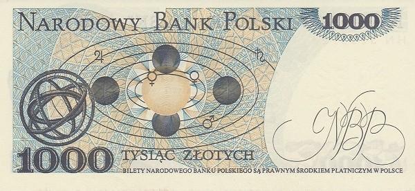 """Poland 1000 Złotych (1974-1988 """"Narodowy Bank Polski on Both Sides"""")"""