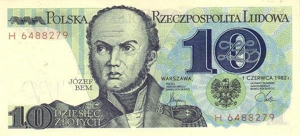 Poland 10 Złotych (1977-1990)