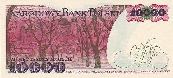 Poland 10000 Złotych (1977-1990)