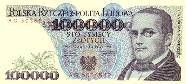 Poland 100000 Złotych (1977-1990)