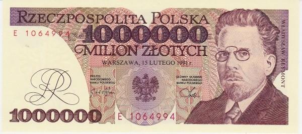 Poland 1000000 Złotych (1990-1992)