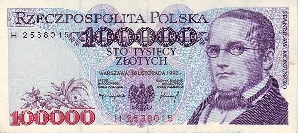 Poland 100000 Złotych (1993)