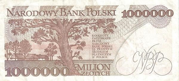 Poland 1000000 Złotych (1993)
