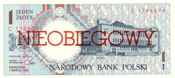 Poland 1 Złoty (1990 Cancelled)