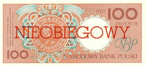 Poland 100 Złotych (1990 Cancelled)