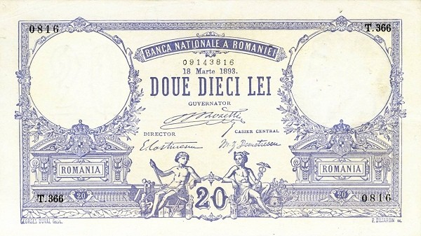 Romania 20 Lei (1881-1907)