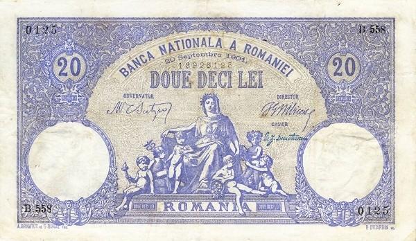 Romania 20 Lei (1896-1908)