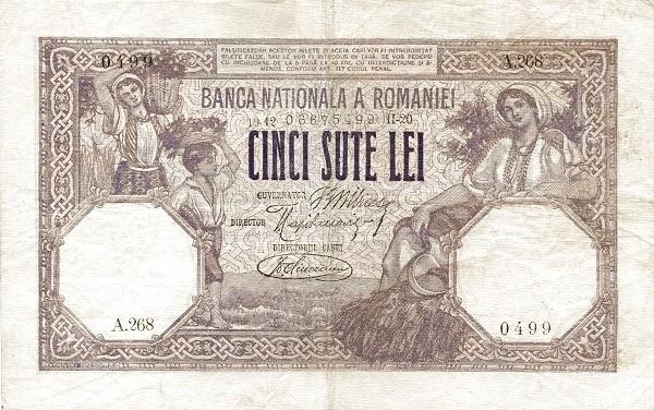 Romania 500 Lei (1909-1931)