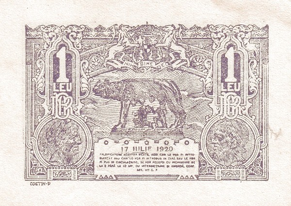 Romania 1 Leu (1920)