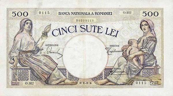 Romania 500 Lei (1924)