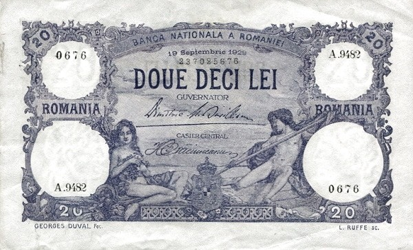 Romania 20 Lei (1925-1938)