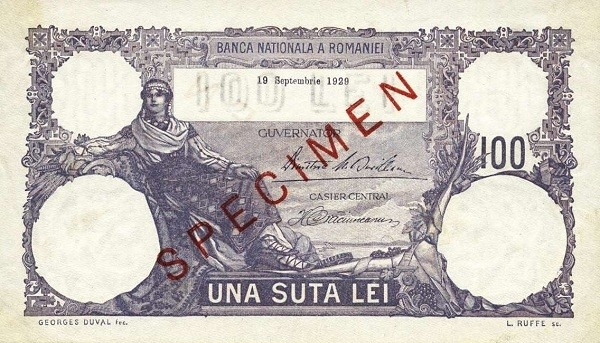 Romania 100 Lei (1925-1938)