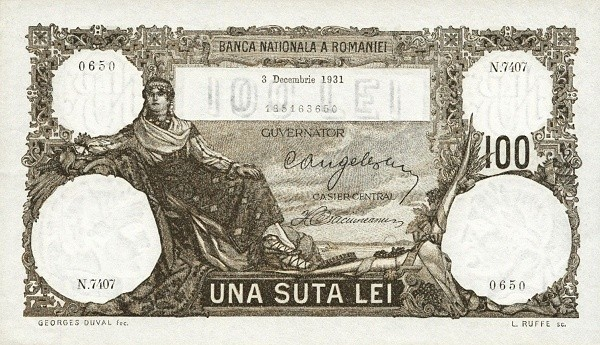 Romania 100 Lei (1930-1933)