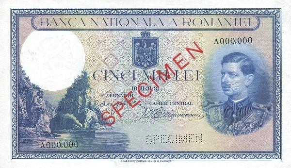Romania 5000 Lei (1930-1933)
