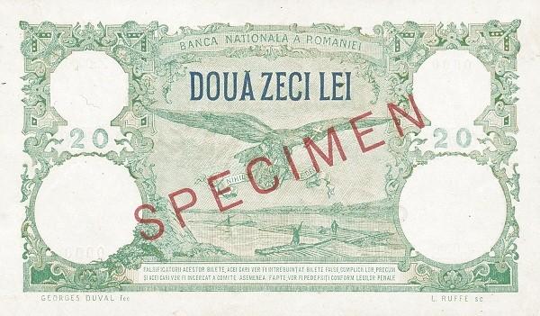 Romania 20 Lei (1936-1940)