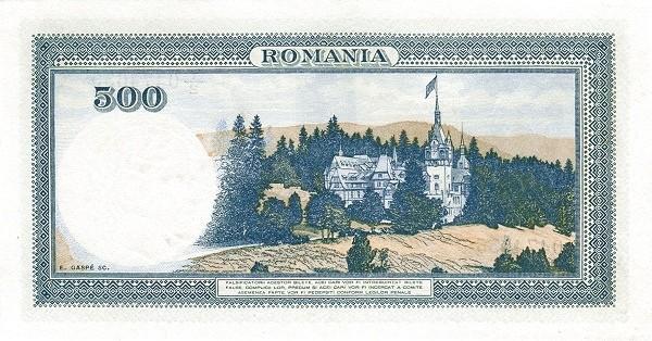 Romania 500 Lei (1936-1940)